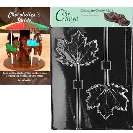 Cybrtrayd Large Maple Leaf Lolly Chocolate Candy Mold with Our Chocolatier