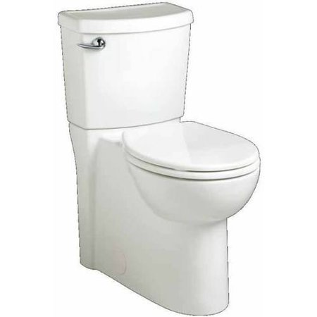 American Standard 2989.101.020 Cadet 3 Flowise Right-Height Elongated 1.28 GPF Toilet with Seat, 12