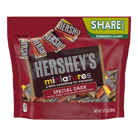 Hersheys Dark Chocolate Miniatures Candy - 10.1oz