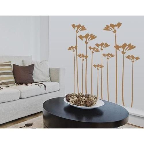 Flower Stalks Wall Decal 47in x 56in Red
