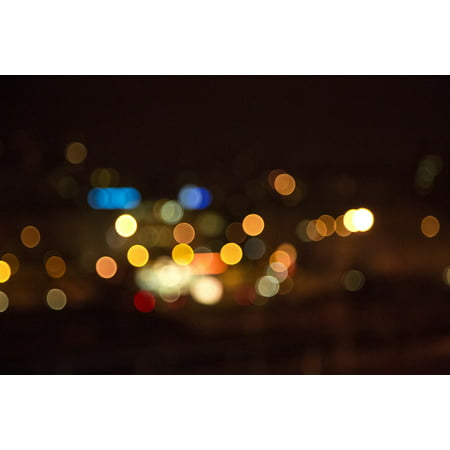 LAMINATED POSTER Bokeh Night Blur Lights Bright Blurred Glowing Poster Print 24 x 36 - Gloving Lights