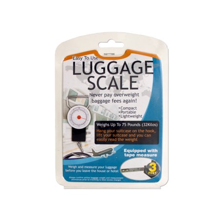 Luggage Scale With Tape Measure (Pack Of 6)