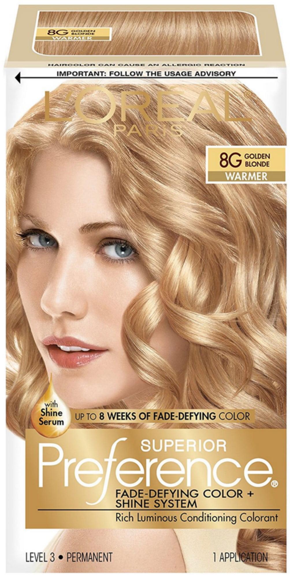 3 Pack Loreal Paris Superior Preference Permanent Hair Color 8g Golden Blonde 1 Ea