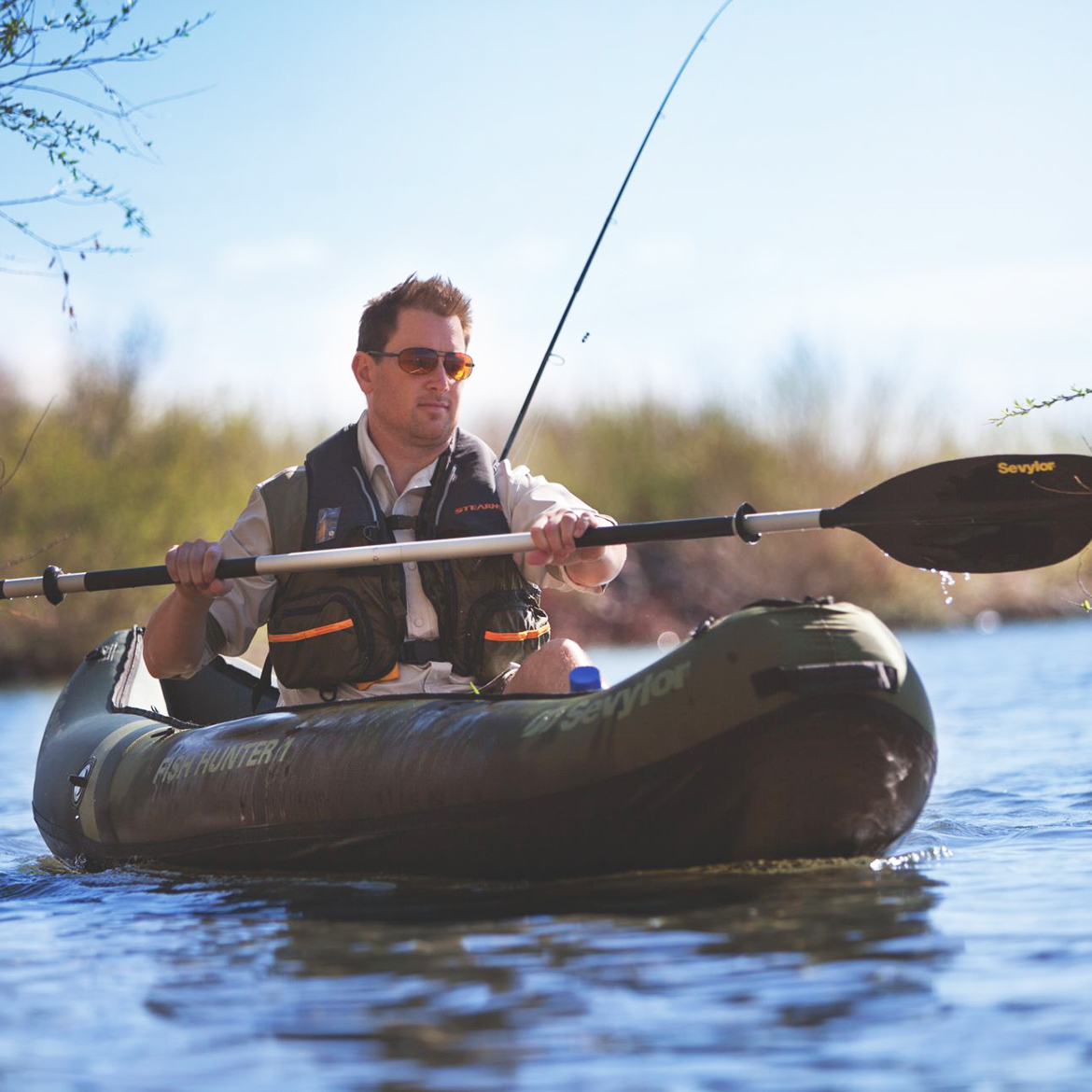 Sevylor Rio Fish/Hunt 1-Person Inflatable Kayak