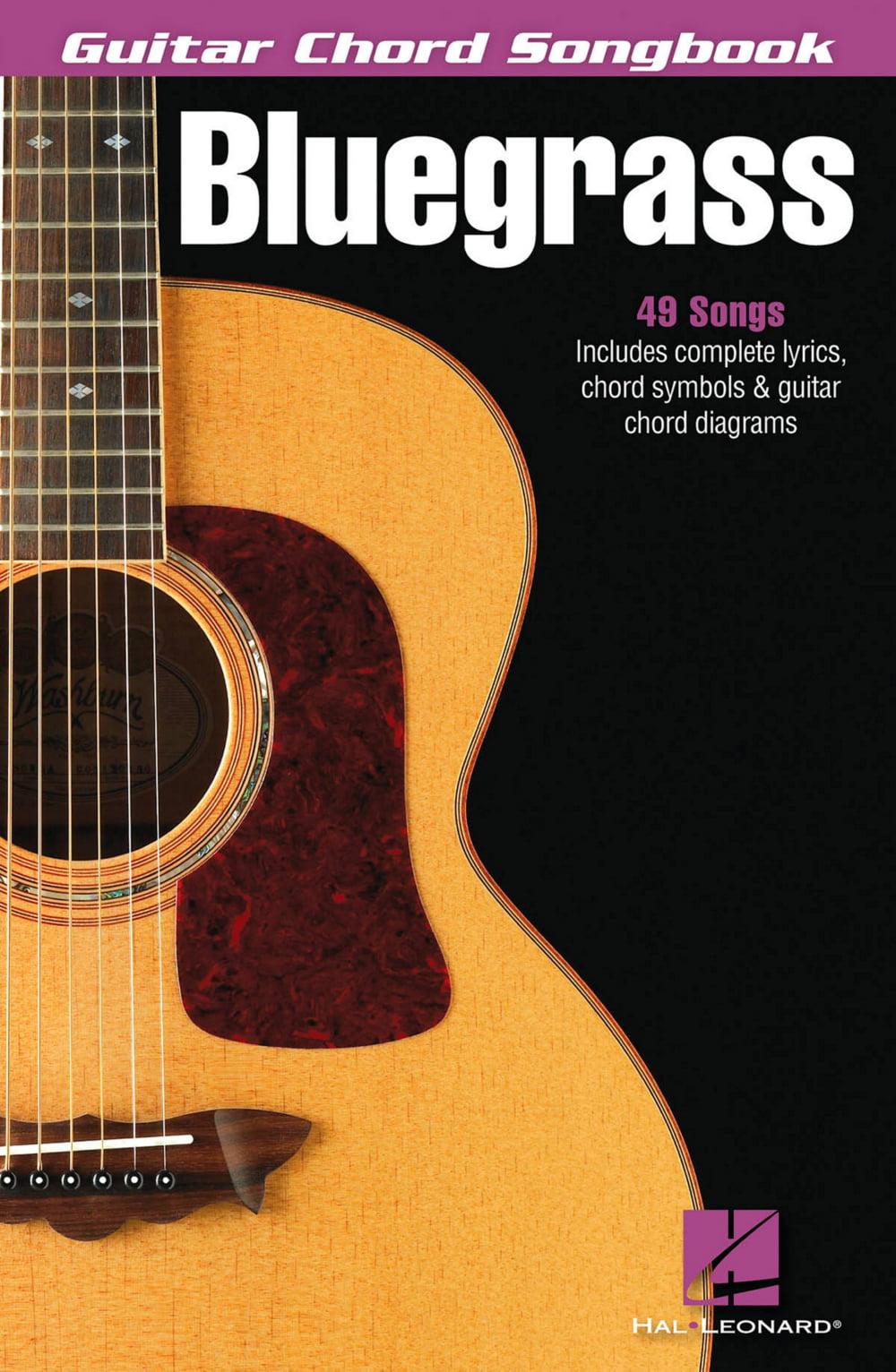 Hal Leonard Bluegrass Guitar Chord Songbook Walmart