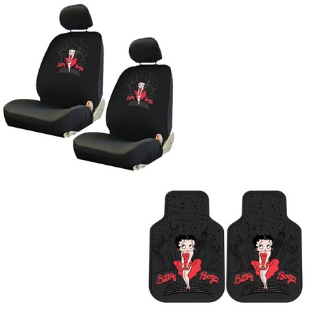 Betty Boop 2 Front Vinyl Floor Mats And 2 Seat Covers
