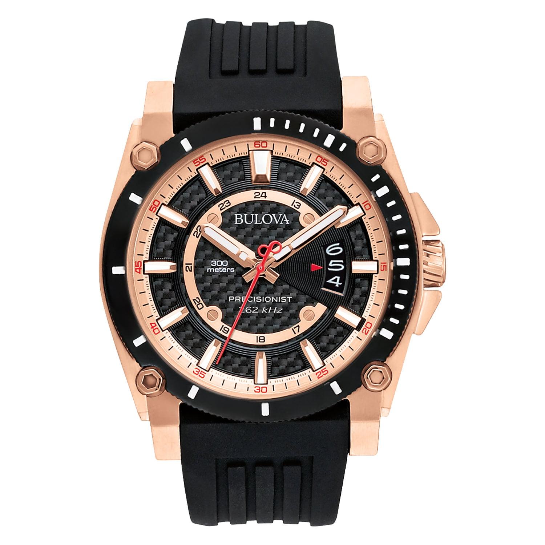 Men's 98B152 Precisionist Rubber Strap Watch