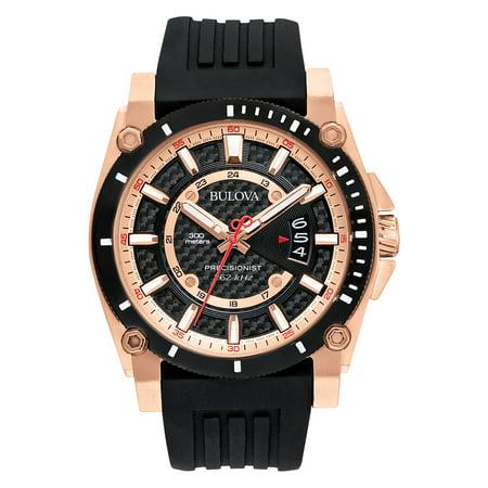 Bulova Men's Precisionist Rubber Strap Watch 98B152