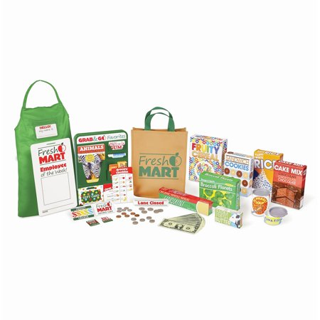 (Melissa & Doug Fresh Mart Grocery Store Play Food and Role Play Companion Set (84 pcs))