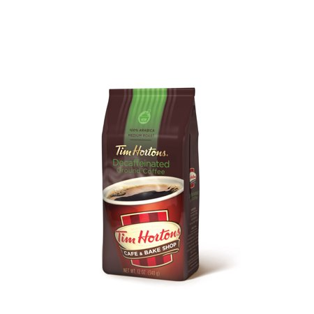 Tim Hortons Ground Decaf Coffee, Medium Roast, 12-Oz