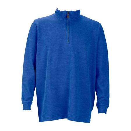 Mens 1 4 Zip Flat Back Rib Pullover  Color  Royal