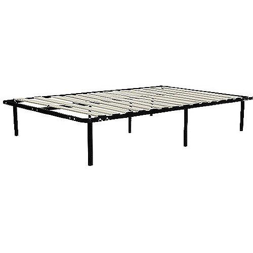 Wooden Slat Bed Frame Black Walmartcom