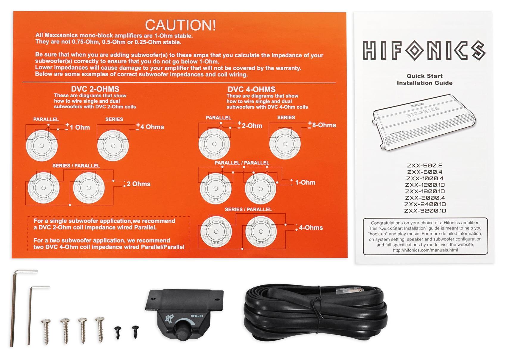 Hifonics Zeus Zxx 18001d 1800w Rms Mono Class D Car Audio Amplifier Wiring Diagram Amp Kit