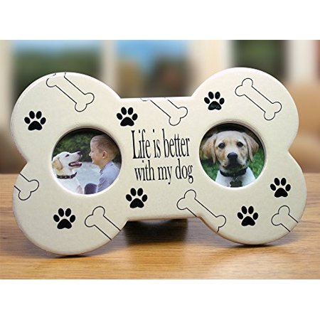 Dog Bone Picture Frame - Life is better with my dog - Walmart.com