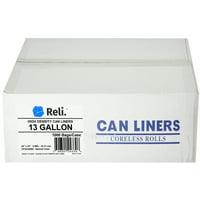 Reli. 13 Gallon Trash Bags (1000 Count Bulk) Clear Garbage Bags