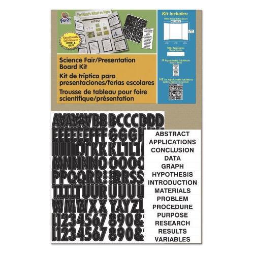 """Pacon Science Fair Presentation Board - 48"""" X 36"""" - White (PAC3793)"""