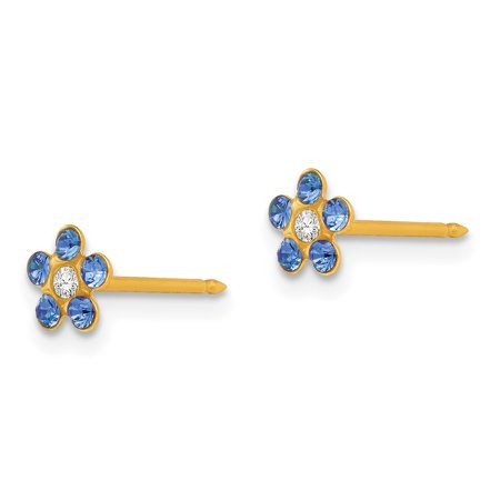 14k September Crystal Birthstone Post Stud Earrings Tool Ear Piercing Supply Fine Jewelry Gifts For Women For Her - image 6 of 7