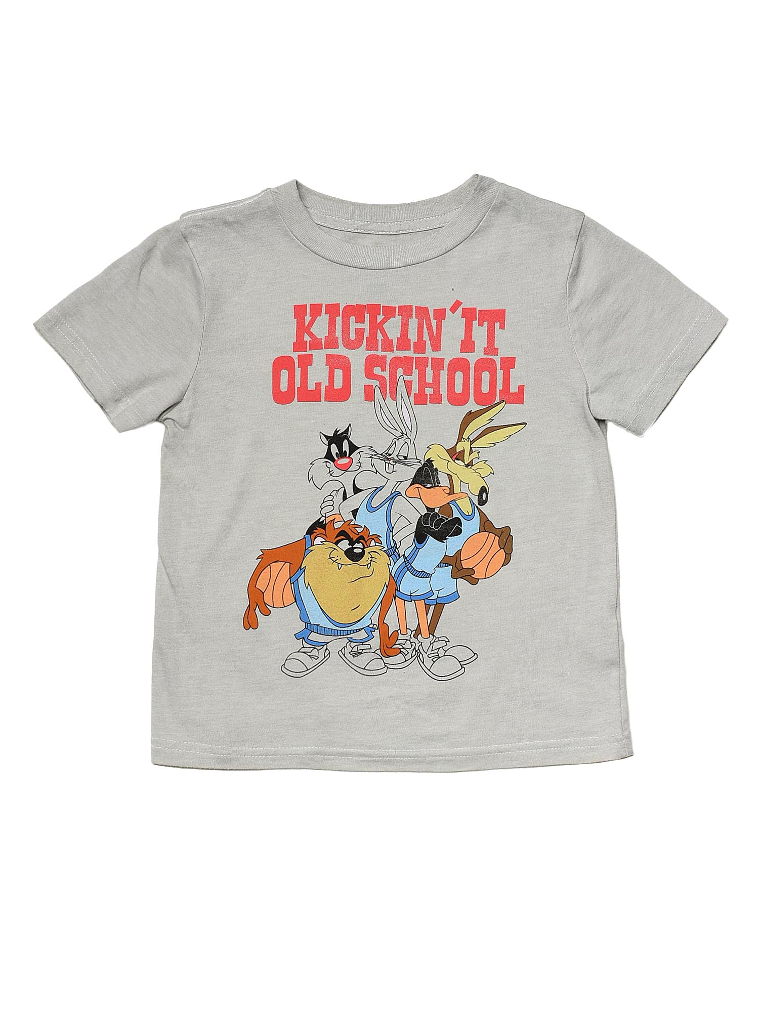 Toddler Boys Bugs Bunny Daffy Duck T-shirt Gray Old School Retro Cartoon