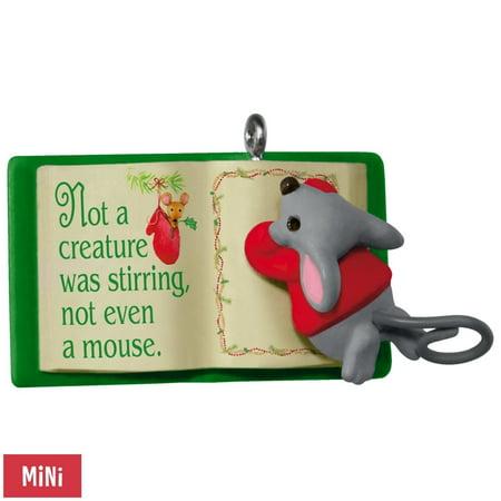 2017 Hallmark Mouse With Book A Creature Was Stirring Mini Ornament ()