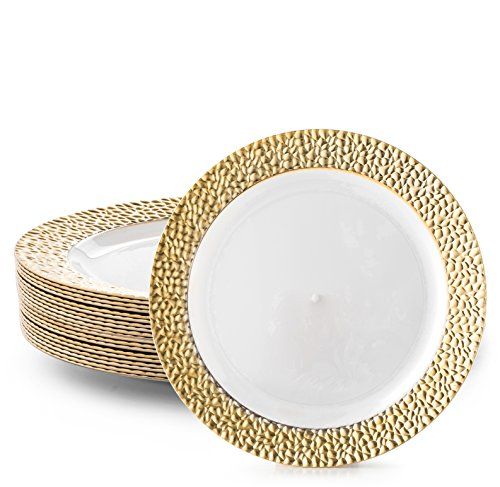 DAZZLE PLASTIC PARTY DISPOSABLE PLATES | 7.5 Inch Hard Round Wedding Appetizer Plates | White with  sc 1 st  Walmart & DAZZLE PLASTIC PARTY DISPOSABLE PLATES | 7.5 Inch Hard Round Wedding ...