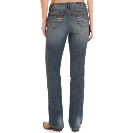 wrangler women's indigo aura instantly slimming jeans plus size - (Average Shoe Size For 5 5 Woman)