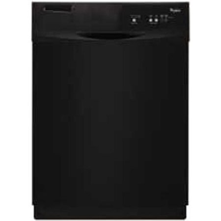 Whirlpool Tall Tub Built In 24 Inch Dishwasher With Front Controls  Black  3 Cycles   2 Options