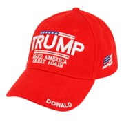 Make America Great Again Embroidered Donald Trump hat with American Flag patch Baseball Cap - Multiple Colors Available
