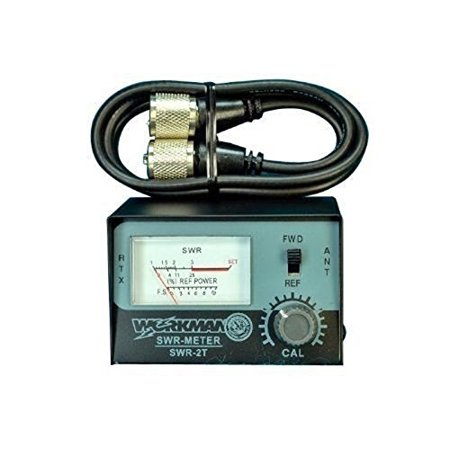 SWR METER for CB Radio Antennas with 3' Jumper cable - Workman SWR2T & CX-3-PL-PL S-video Cable Radio Shack