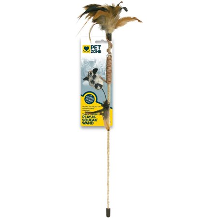 Pet zone tiger teaser wand cat toy for Cat wand toys