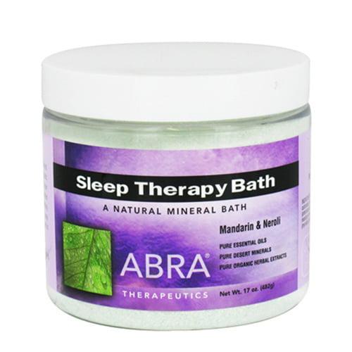 Abra Therapeutics Sleep Therapy Mineral Bath, Mandarin And Neroli - 17 Oz