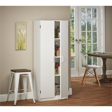 Double Door Utility Cabinet - SystemBuild Flynn Double Pantry, Multiple Colors