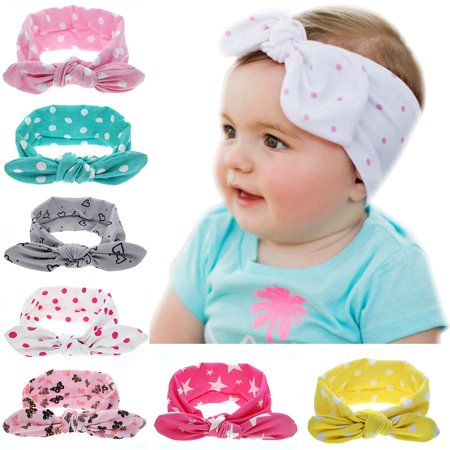 Headband for Baby Girl, Cute 7 Pieces Hair Bows Clips Flower Ribbon Hair Accessories For