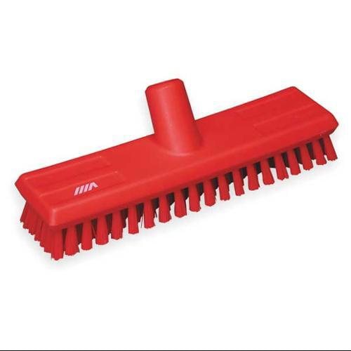 VIKAN 70414 Deck Scrub Brush, Red, 1 Trim L, PET