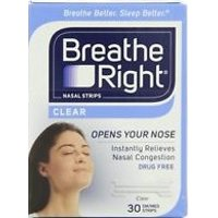 Breathe Right Small Clear Nasal Strips, 40 Count