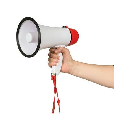 Loud Battery Operated Red Megaphone Horn Costume Accessory](Mini Cheer Megaphones)