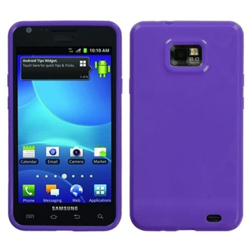 Insten Solid Purple Candy Skin Case for SAMSUNG: I777 (Galaxy S II)