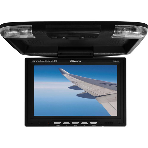 """XO Vision GX2156B 12.2"""" Widescreen Overhead Monitor with Built-in DVD Player"""