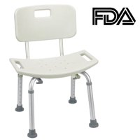 Zimtown Adjustable Shower Chair with Removable Back,Tool-Free Assembly