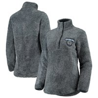 Philadelphia Union Concepts Sport Women's Trifecta Fluffy Half-Zip Pullover Jacket - Charcoal