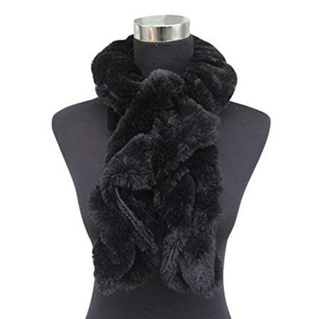 Fun Scarf (Beaute Fashion Faux Fur Fuzzy Twisted Plush Neck Warmer Scarf - Super Soft)