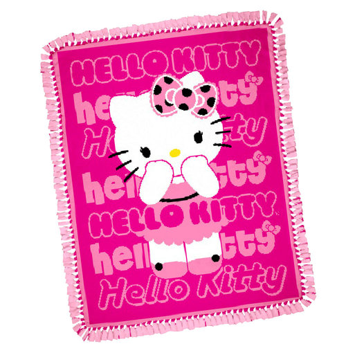 Springs Creative Hello Kitty Fuchsia Throw Kit