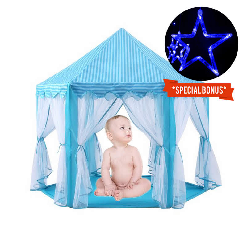 Princess Castle Play Tent with Glow in The Dark Stars, Folds in to a Carrying Case, Your Kids Will Enjoy This Foldable Pop Up Play Tent/House Toy for Indoor & Outdoor Use
