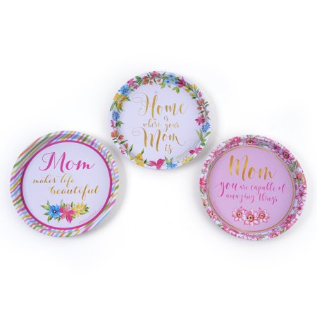 Mother's Day Round Tin Plates by (Mother's Day Plates)