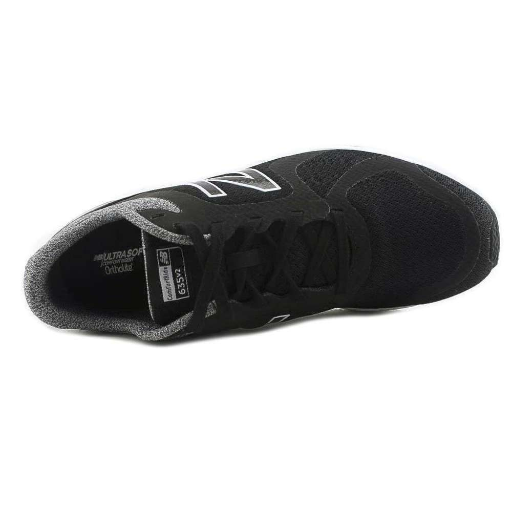 New Balance Womens 635CB2 Low Top Lace Up Running, Black/White/Grey, Size 7.5