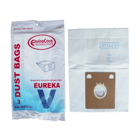 Eureka Style V Vacuum Bags Type Vac 52358B-6 Express Canister 154SW EnviroCare [3 Bags] (Eureka Canister Style V Bags)