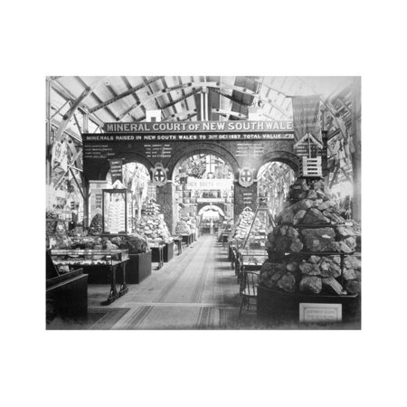 New Exhibition Design - Mineral Court of New South Wales, Centennial International Exhibition, Australia, 1888 Print Wall Art By O'Shamessy