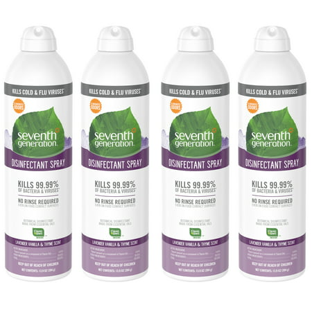 Seventh Generation Disinfectant Spray, Lavender Vanilla & Thyme Scent, 13.9 Ounce (Pack of