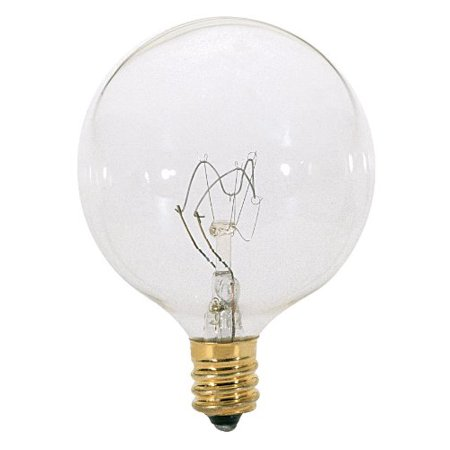Satco Candelabra G16.5 Incandescent Globe Light Bulb