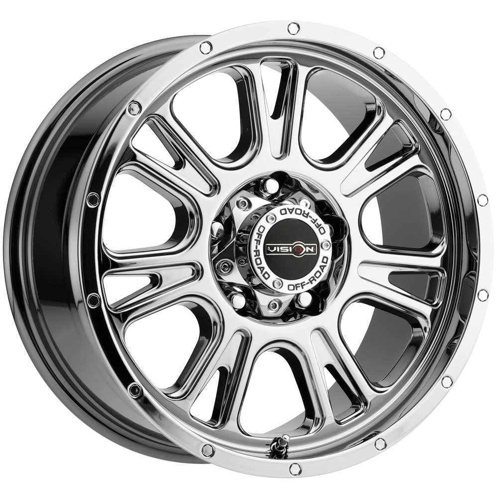 "18"" Inch Vision 399 Fury 18x8.5 5x114.3 (5x4.5"") +18mm PVD Chrome Wheel Rim"