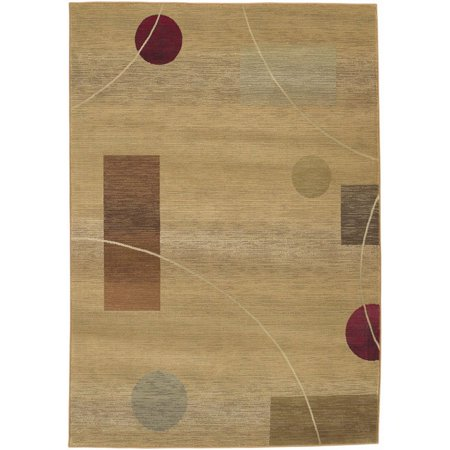 Sphinx Generations Area Rugs - 1504G Contemporary Beige Geometric Abstract Squares Circles Rug